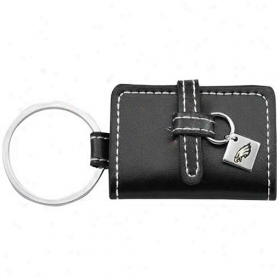 Philadelphia Eagles Black Leather Photo Album Keychain