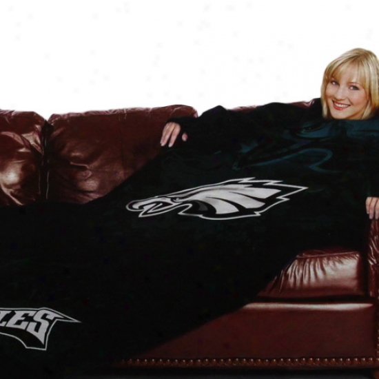 Philadelphia Eagles Black Tezm Logo Print Unisex Comfy Throw