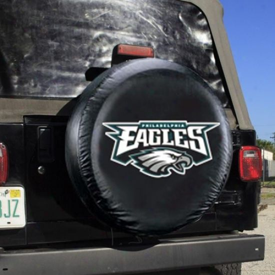 Philadelphia Eagles Black Tire Cover
