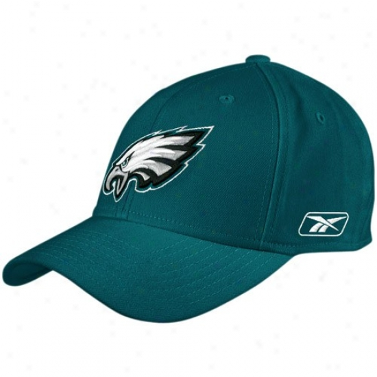 Philadelphia Egles Cap : Reebok Philadelphia Eagles Green Coaches Sideline Flex Cap