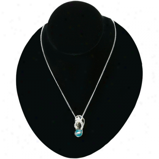 Philadelphia Eagles Crystal Flip Flop Necklace