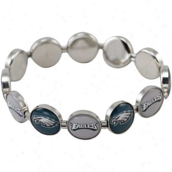 Philadelphia Eagles Enamel Charm Beaded Bracelet