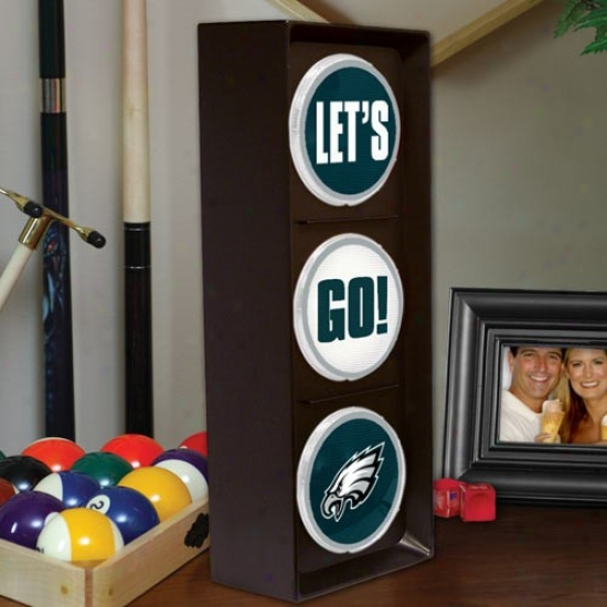 Philadelphia Eagles Flashing Let's Go Light