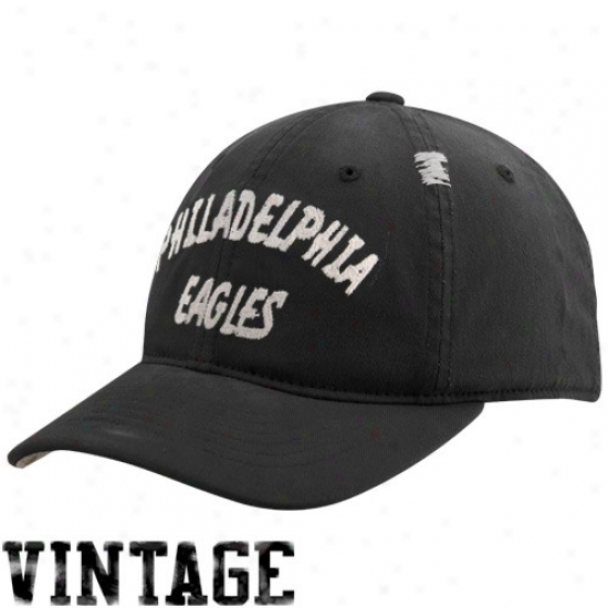 Philadelphia Eagles Gear: Reebok Philadelphia Eagles Black Vijtage Flex Slouch Hat