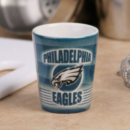Philadelphia Eages Green End Zone Ceeamic Shot Glass