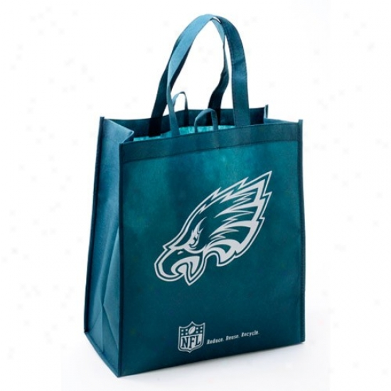 Philadelhpia Eagles Green Reusable Tote Bag