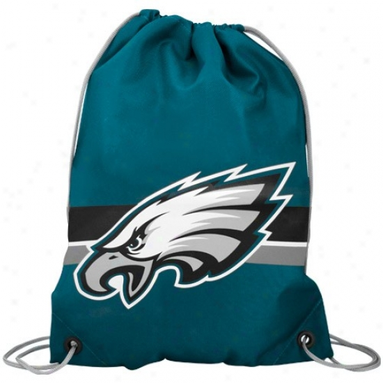 Philadelphia Eagles Green Team Logo Drawstring Backpack
