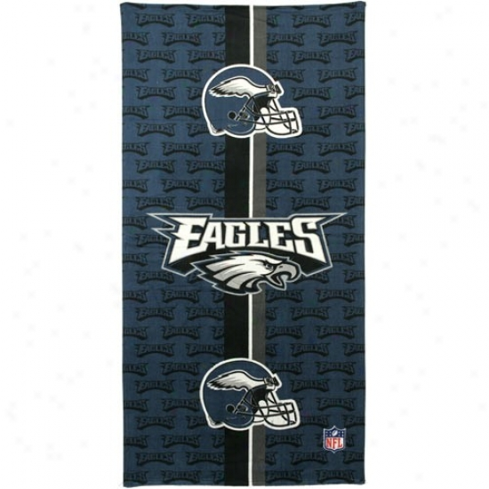 Philadelphia Eagles Green Team Stripe Beach Tow3l