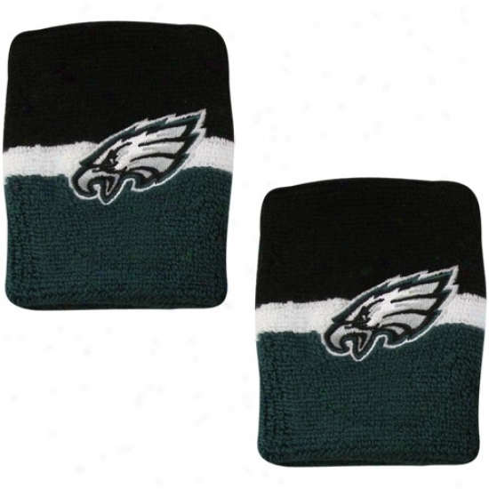 Philadelphia Eagles Hats : Reebok Philadelphia Eagles Green-black Striped Wristbands