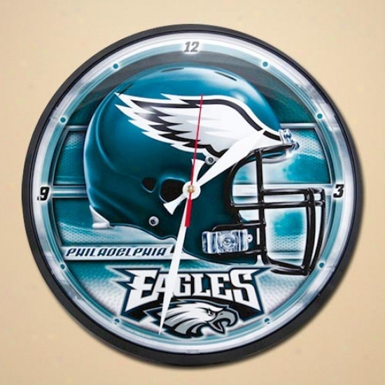 Phlladelphia Eagles Helmet Wall Clock