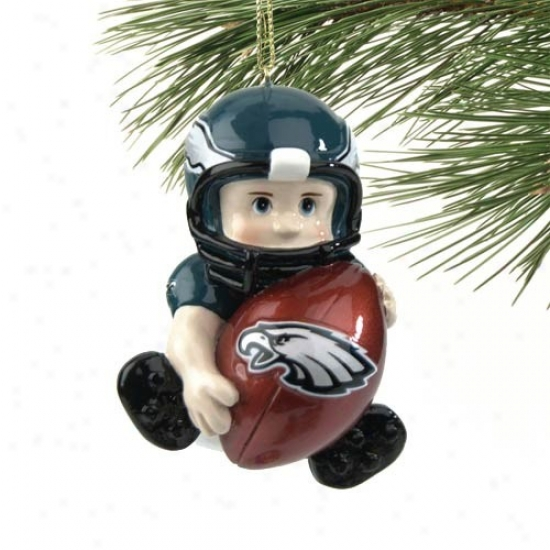 Philadelphia Eagles Lil' Fan Football Player Acrylic O5nament