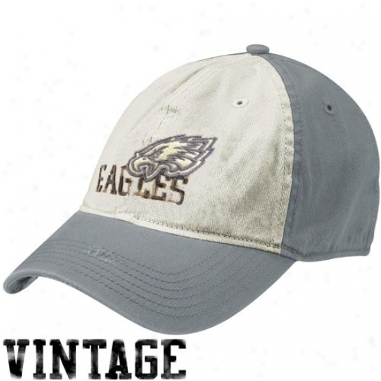 Philadlphia Eagles Merchandise: Reebok Philadelphia Eagles Natural-gray Random Vintage Flex Fit Hat