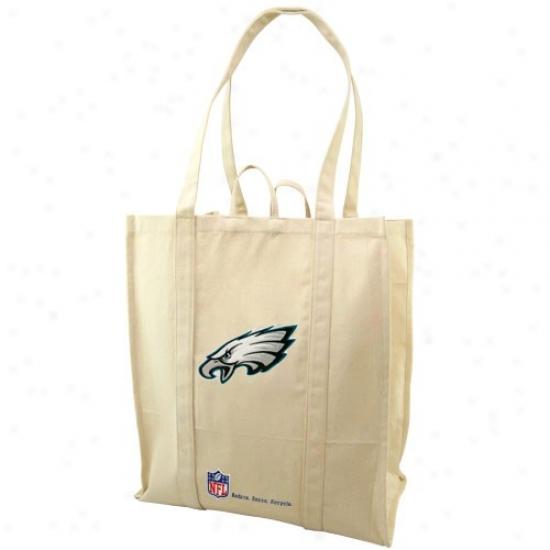 Philadelphia Eagles Natural Resuable Organic Tote Bag