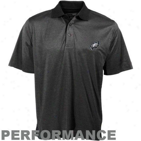 Philadelphia Eaglea Polos : Cutter & Buck Philadelphia Eagles Black Birdseye Performance Polos