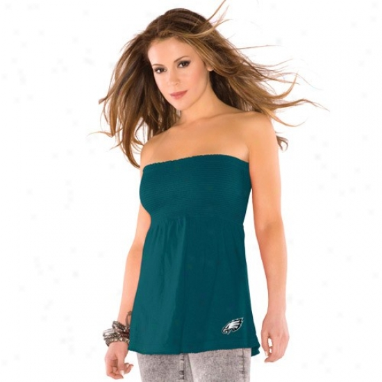 Philadelphia Eagles Shirts : Touch By Alyssa Milano Philadelphiia Eagles Ladies Green Touch Tube Top