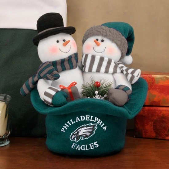 Philadelphia Eagles Snowmen Top Hat