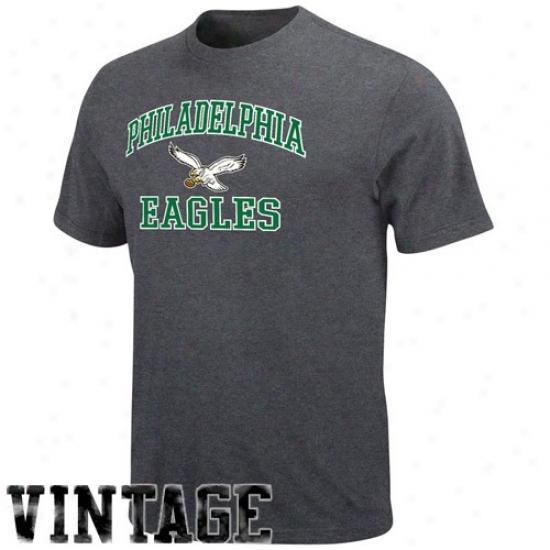 Philadelpnia Eagles T Shirt : Piladelphia Eagles Heather Charcoal Heart & Soul Ii Legacy T Shirt