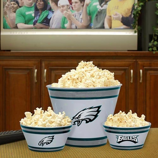 Philadelphia Eagles Three-piece Melamine Serving Set