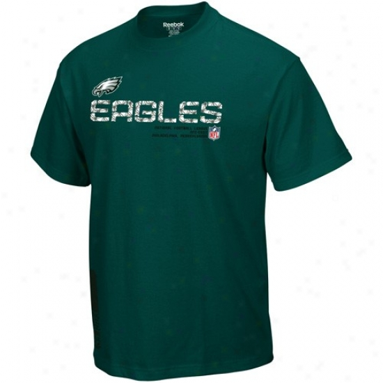 Philadelphia Eagles Tshirts : Reebok Philadelphia Eagles Green Sideline Tacon Tshirts