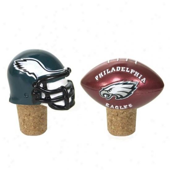 Philadelphia Eagles Two Pack Bottle Cork Set