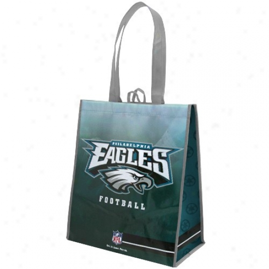 Philadelphia Eagles White-green Fade Reusable Tote Bag
