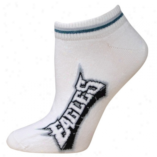 Philadelphia Eagles White Ladies (529) 9-11 Ankle Socks
