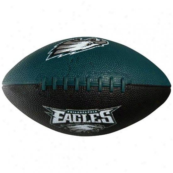 Philadelphia Eagles Youth Green-black Hail Mary Caoutchouc Football