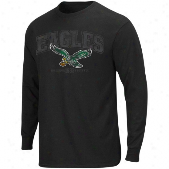 Philly Eagle Apparel: Philly Eagle Black Critical Victory Iv Long Sleeve T-shirt