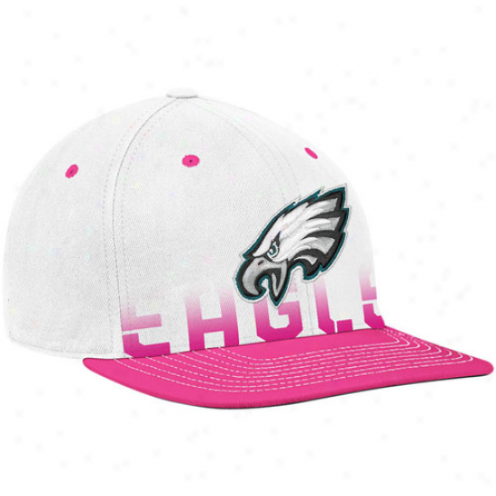 Philly Eagle Cal : Reebok Philly Eagle White-pink Breast Cancer Awareness Flat Brim Flex Cap