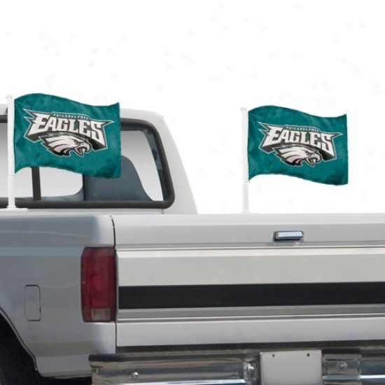 Philly Eagle Flags : Philly Eagle Green 2-pack Team Logo Truck Flags