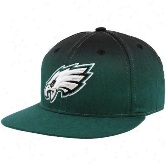 Philly Eagle Gear: Reebok Philly Eagle Green-black Gradiated Fitted Hat