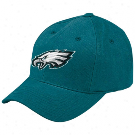 Philly Eagle Gear: Reebok Philly Eagle Green Basic Logo Brushed Cotton Hat