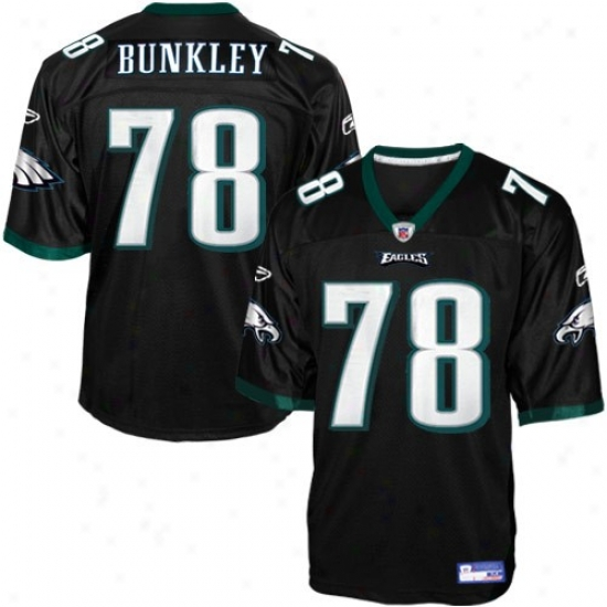 Philly Eagle Jersey : Reebok Nfl Equipment Philly Eagle #78 Brodrick Bunkley Dismal Alternate Replica Football Jersey