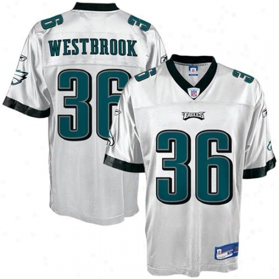Philly Eagle Jersey : Reebok Nfl Equipment Philly Eagle #36 Brian Westbrook White Replica Jerqey