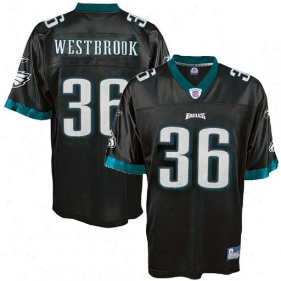 Philly Eagle Jerseys : Reebok Nfl Equipment Philly Eagle #36 Brian Westbrook Youth Black Replica Football Jerseys