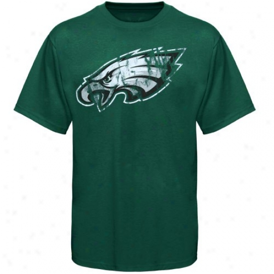 Philly Eagle Shitrs : Philly Eagle Green Vintage Logo Close Fit Shirts