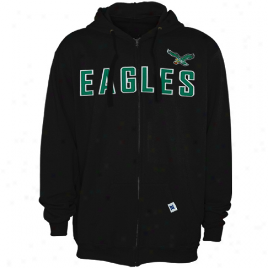 Philly Eagle Stuff: Philly Eagle Black Legacy Classic Heavyweight Full Zip Hoody Sweatshirt
