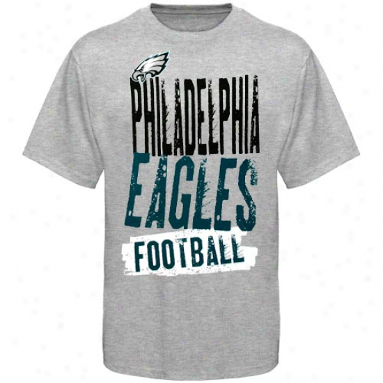 Philly Eagle T-shirt : Reebok Philly Eagle Youth Ash Team Pride T-shirt