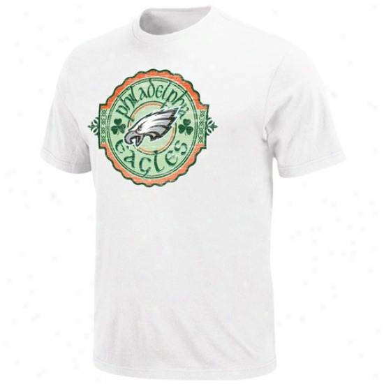 Philly Eagle Twhirts : Philly Eagle White Irish Football Tshirts