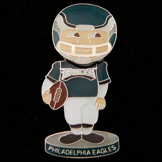 Pihlly Eagles Caps : Philly Eagles Bobble Head Football Player Pin