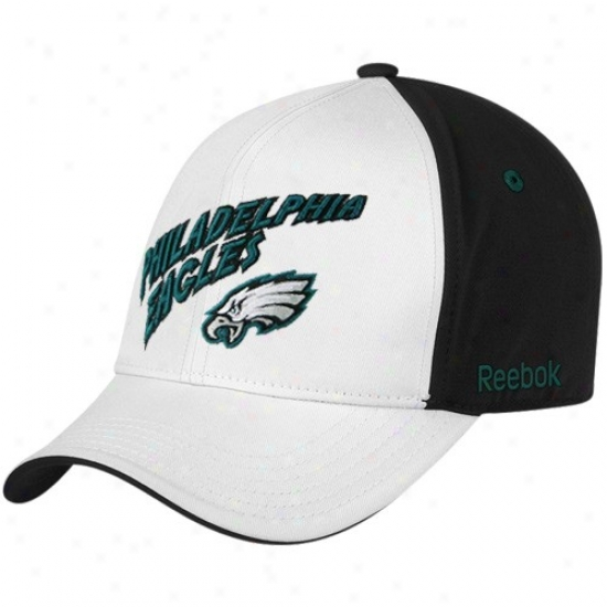 Philly Eagles Hats : Reebok Phill yEagles Youth White Structured Adjustable Hats