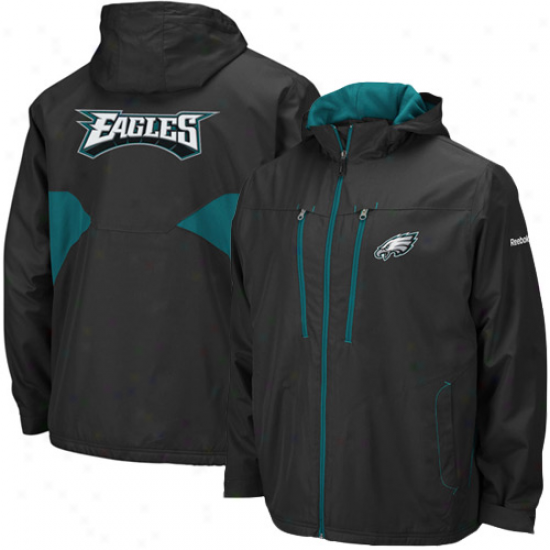 Philly Eagles Jackets : Reebok Philly Eagles Mourning Sideline Midweight Full Zip Jackets