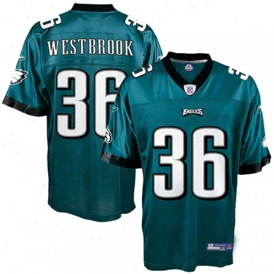 Philly Eagles eJrsey : Reeebok Nfl Equipment Philly Eagles #36 Brian Westbrook Green Youth Replica Football Jersey
