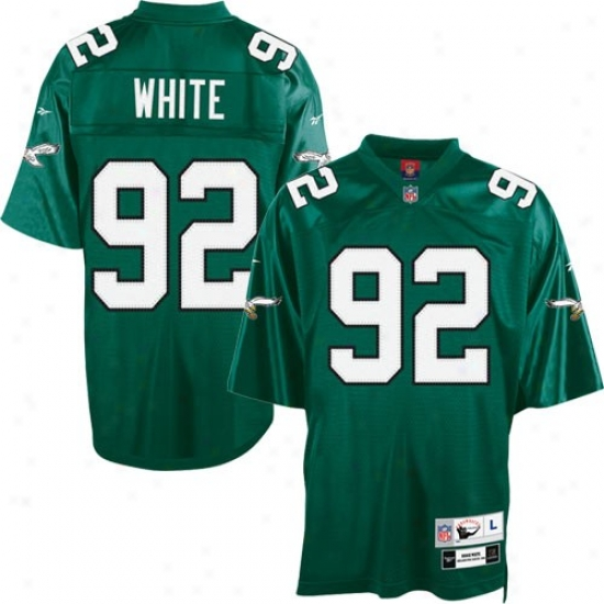 Philly Eagles Jersey : Reebok Nfl Accoutrement Philly Eagles #92 Reggie White Kekly Green Tackle Twill Throwback Footballl Jersey