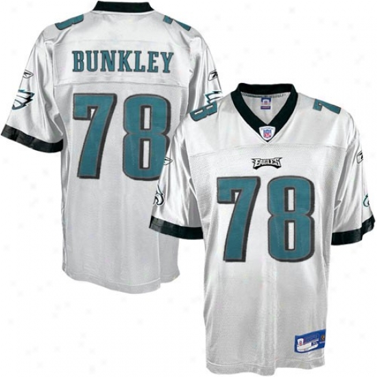 Philly Eagles Jersey : Reebok Philly Eagles #78 Brodrick Bunkley White Replica Football Jersey