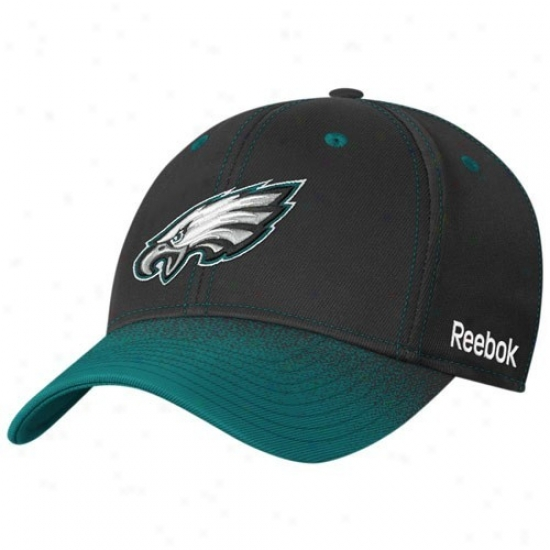 Philly Eagles Merchandise: Reebok Philly Eaglws Youth Murky Fadeout Sideline 2nd Season Flex Fit Hat