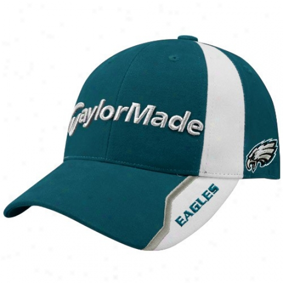 Philly Eagles Merchandise: Taylormade Philly Eagles Greenn Nfl Golf Addjustable Hat