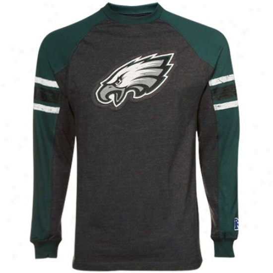 Philly Eagles Shirts : Philly Eagles Charcoal Victory Pride Ii Premium Long Sleeve Raglan Shirts