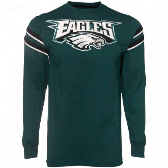 Philly Eagles T-shirt : Philly Eagles Green End Of The Line Long-winded Sleeve T-shirt