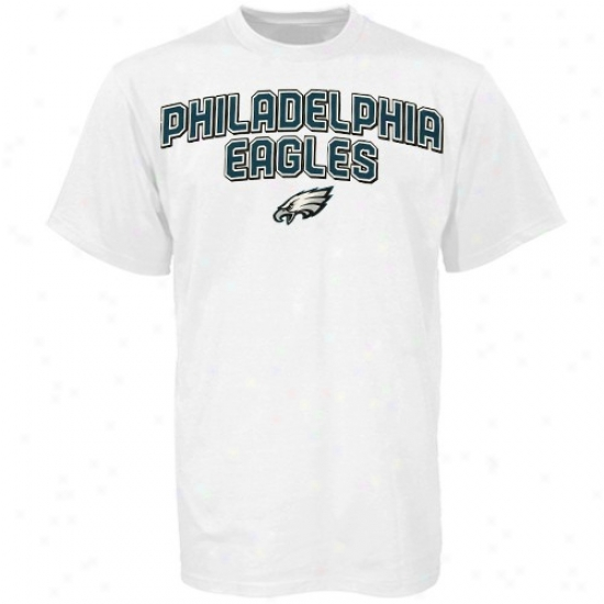Phioly Eagles T-shirt : Reebok Philly Eagles White Double Arched T-shirt